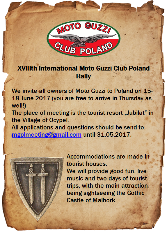 XVIIIth International Moto Guzzi Club Poland Rally